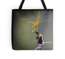 Golden Dragonfly Fairy Tote Bag