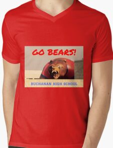 GO BEARS Buchanan High School Mascot Mens V-Neck T-Shirt