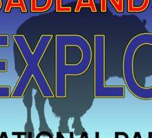 BADLANDS NATIONAL PARK LICENSE PLATE SOUTH DAKOTA BISON BUFFALO 2 Sticker