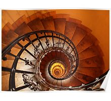 Spiral Staircase, St Stephen's Basilica, Budapest Poster