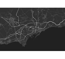 Tarragona, Spain Map. (White on black) Photographic Print