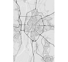 Seville, Spain Map. (Black on white) Photographic Print