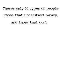 Funny Binary Design Photographic Print