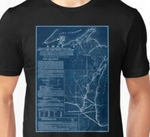 0062 Railroad Maps A map showing the route of the proposed rail road from the Copper and Iron Mining District of Lake Superior to connect with rail roads built or being Inverted Unisex T-Shirt