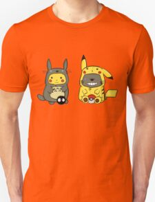 Totoro and Pika Cutes Unisex T-Shirt