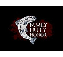Family, Duty, Honor - House Tully Photographic Print