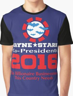 Wayne and Stark for President Graphic T-Shirt