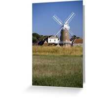 Cley Windmill and reedbeds Greeting Card