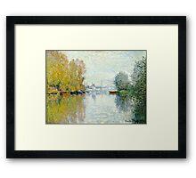 Claude Monet - Autumn On The Seine, Argenteuil 1873  Framed Print