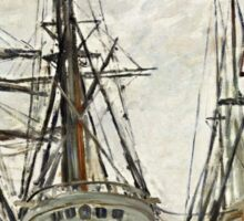Claude Monet - Boats In A Harbour 1873  Sticker