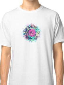 Fruity Rose - Fancy Colorful Abstraction Pattern Design (green pink blue) Classic T-Shirt