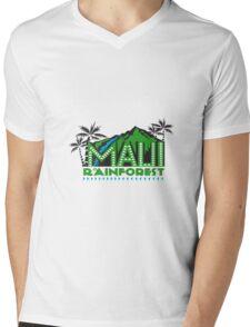 Maui Rainforest Retro Mens V-Neck T-Shirt