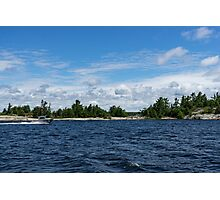 The Silver Bullet - Little Silver Boat Speeding Along Photographic Print