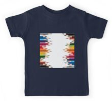 fun color pencil pattern,trendy,modern,kid,kids,teachers,pattern Kids Tee