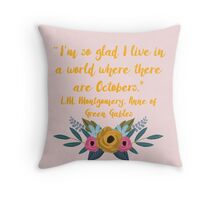 Anne of Green Gables, October Throw Pillow