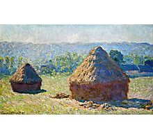 Claude Monet - Haystacks, end of Summer (1891)  Photographic Print