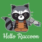Hello Raccoon (for dark backgrounds) by Kimberly1337