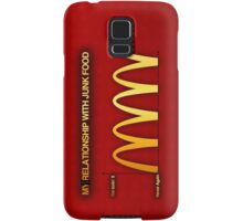 My Relationship With Junk Food Graph Samsung Galaxy Case/Skin