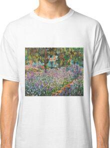 Claude Monet - Irises In Monet S Garden  Classic T-Shirt