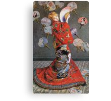 Claude Monet - Japan S Camille Monet In Japanese Costume 1876 Canvas Print