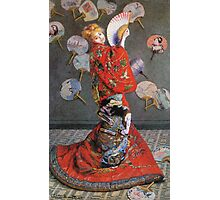 Claude Monet - Japan S Camille Monet In Japanese Costume 1876 Photographic Print