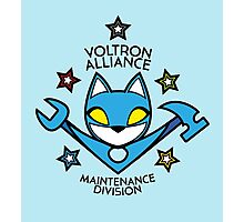 V.A. Maintenance Division Blue Photographic Print