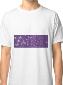enlighted female silhouette with butterlies Classic T-Shirt