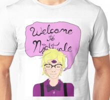 Cecil saying Welcome To Nightvale Unisex T-Shirt