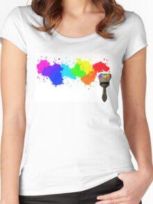 Splatter Women's Fitted Scoop T-Shirt