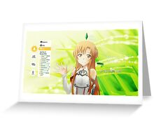Sword Art Online Asuna Greeting Card