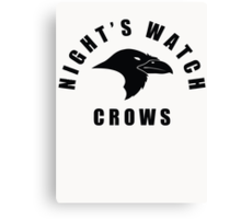 Nights Watch Crows Canvas Print