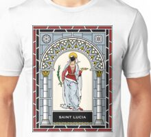 ST LUCIA (ST LUCY) under STAINED GLASS Unisex T-Shirt