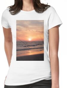 Sunset at the Beach Womens Fitted T-Shirt