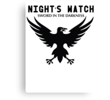 Nights Watch Sword In The Darkness Canvas Print