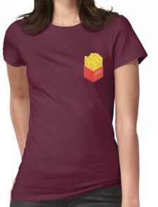 Isometric Fries Womens Fitted T-Shirt