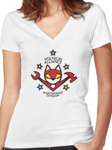 V.A. Maintenance Division Red Women's Fitted V-Neck T-Shirt