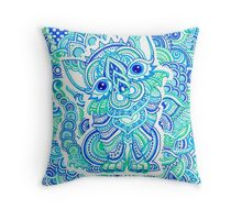 Psychedelic Art Throw Pillow