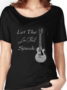 Let The Les Paul Speak Gray  Women's Relaxed Fit T-Shirt