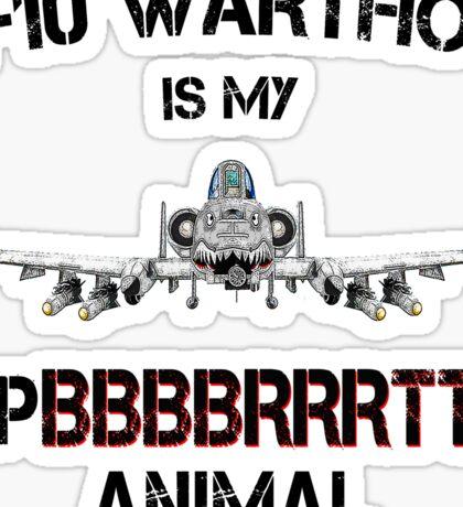 A-10 WARTHOG - Spirit Animal-b Sticker