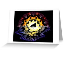 Mandala Sunset Greeting Card