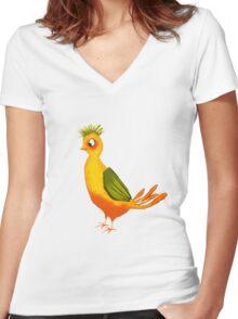 Teenager Bird Women's Fitted V-Neck T-Shirt