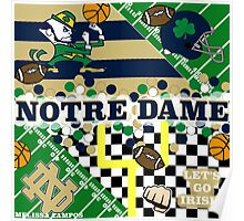NOTRE DAME COLLAGE Poster