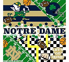 NOTRE DAME COLLAGE Photographic Print