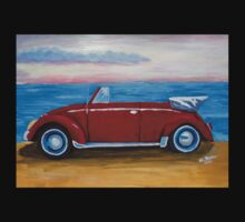 red VW bug with sea Kids Clothes