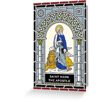 ST MARK THE APOSTLE under STAINED GLASS Greeting Card