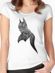 It's Not Who I Am Underneath... (Grayscale) Women's Fitted Scoop T-Shirt