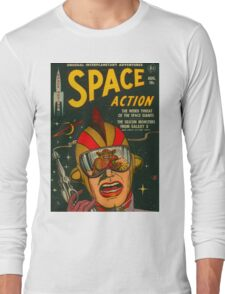 Space Action - Classic Comic Cover Long Sleeve T-Shirt