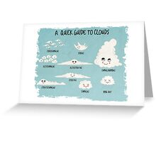 A Quick Guide to Clouds Greeting Card