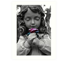 Girl with Rose Art Print