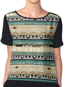 Ethnic pattern of the Americans. Chiffon Top